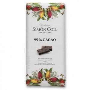 """CHOCOLATE """"SIMÓN COLL"""", 99 % DE CACAO"""