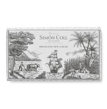 """CHOCOLATE AL 50 % DE CACAO, """" SIMÓN COLL """""""