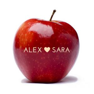 Manzanas Frescas Personalizada para Bodas