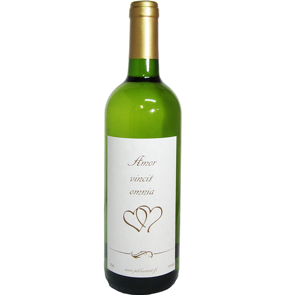Botellas de vino blanco personalizadas para bodas - Botelleros de vino ...